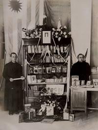 1938 Inauguración de la Biblioteca del Colegio de Montevideo, Uruguay.